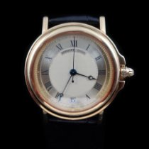 Breguet Yellow gold Automatic Champagne 35.5mm pre-owned Marine