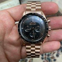 Omega Oro rosa Cuerda manual Negro 42mm nuevo Speedmaster Professional Moonwatch