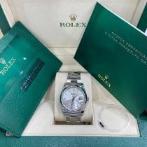 Rolex Oyster Perpetual Date Steel 34mm Silver No numerals United States of America, New York, New York