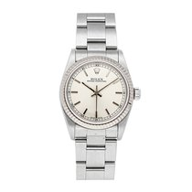 Rolex Oyster Perpetual 31 pre-owned 31mm Silver Date Fold clasp