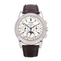 Patek Philippe 5970G-001 White gold 2005 Perpetual Calendar Chronograph 40mm pre-owned