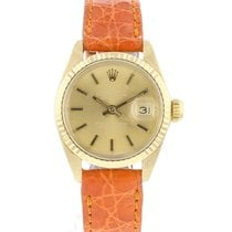 Rolex Yellow gold Automatic Gold 26mm pre-owned Lady-Datejust