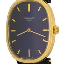 Patek Philippe Yellow gold Manual winding Blue No numerals 27mm pre-owned Golden Ellipse