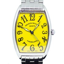 Franck Muller Casablanca Steel 31mm Yellow Arabic numerals Singapore