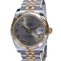 Rolex Lady-Datejust Gold/Steel 31mm Grey Roman numerals