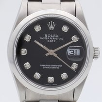 Rolex Oyster Perpetual Date Acciaio 34mm Nero Senza numeri Italia, Roma, eOrologi