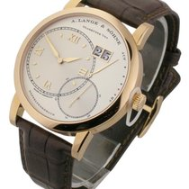 A. Lange & Söhne Rose gold Manual winding Silver Roman numerals pre-owned Grand Lange 1