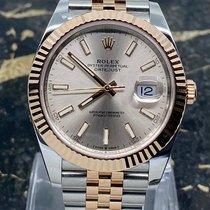 Rolex Datejust II Золото/Cталь 41mm Розовый Без цифр