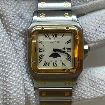 Cartier Santos (submodel) Gold/Steel 29mm Champagne Roman numerals