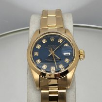Rolex Oyster Perpetual Lady Date usato 26mm Blu Data Oro giallo