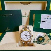Rolex Datejust Gold/Steel 41mm White No numerals Australia