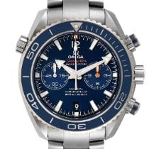 Omega Seamaster Planet Ocean Chronograph pre-owned 45.5mm Blue Date Buckle