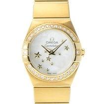 Omega Constellation Quartz Yellow gold 24mm White
