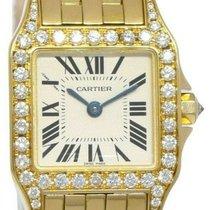 Cartier Santos Demoiselle Yellow gold 20mm Silver Roman numerals United States of America, Florida, Boca Raton