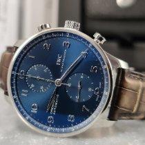IWC Portuguese Chronograph Staal 40.9mm Blauw Arabisch Nederland, Leeuwarden
