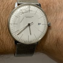 Junghans max bill Automatic pre-owned 38mm Silver Date Steel