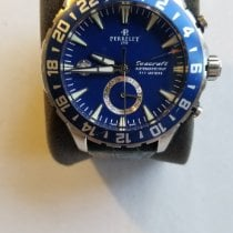 Perrelet Seacraft pre-owned 42mm Blue Date GMT Leather