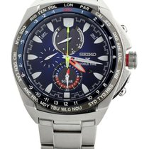 Seiko Prospex pre-owned 44mm Blue Chronograph Date GMT Steel