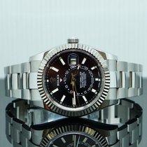 Rolex Sky-Dweller Сталь 42mm Черный Без цифр