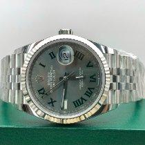 Rolex Datejust Stahl 36mm Grau Keine Ziffern