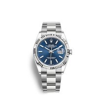 Rolex Datejust Stahl 36mm Blau Keine Ziffern
