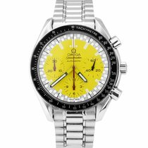 Omega Speedmaster Reduced pre-owned 39mm Yellow Chronograph Tachymeter Steel