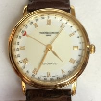 Frederique Constant Classics Automatic pre-owned 34mm White Date Leather