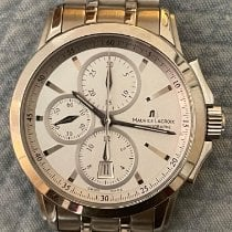 Maurice Lacroix Pontos Chronographe pre-owned 42mm Silver Chronograph Date Steel