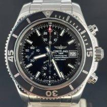 Breitling Superocean occasion 42mm Noir Chronographe Date Acier