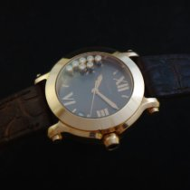 Chopard Red gold Quartz Brown Roman numerals 36mm pre-owned Happy Sport