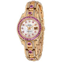 Rolex Pearlmaster Yellow gold 29mm Mother of pearl No numerals United States of America, New York, Greenvale