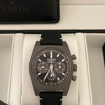 Zenith El Primero Chronomaster Титан 37mm Черный Без цифр