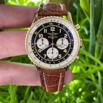Breitling Yellow gold Black pre-owned Navitimer