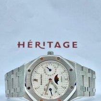 Audemars Piguet Royal Oak Day-Date Acier 36mm Blanc Sans chiffres