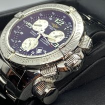 Breitling Emergency pre-owned 45mm Black Chronograph Date Steel