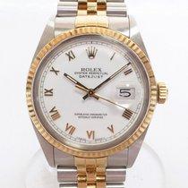 Rolex Datejust Gold/Steel 36mm White No numerals