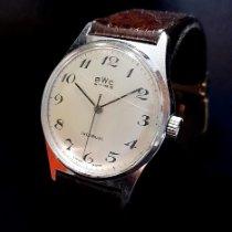BWC-Swiss Steel 35mm Manual winding vintage BWC Swiss Incabloc men's unisex dress wristwatch pre-owned