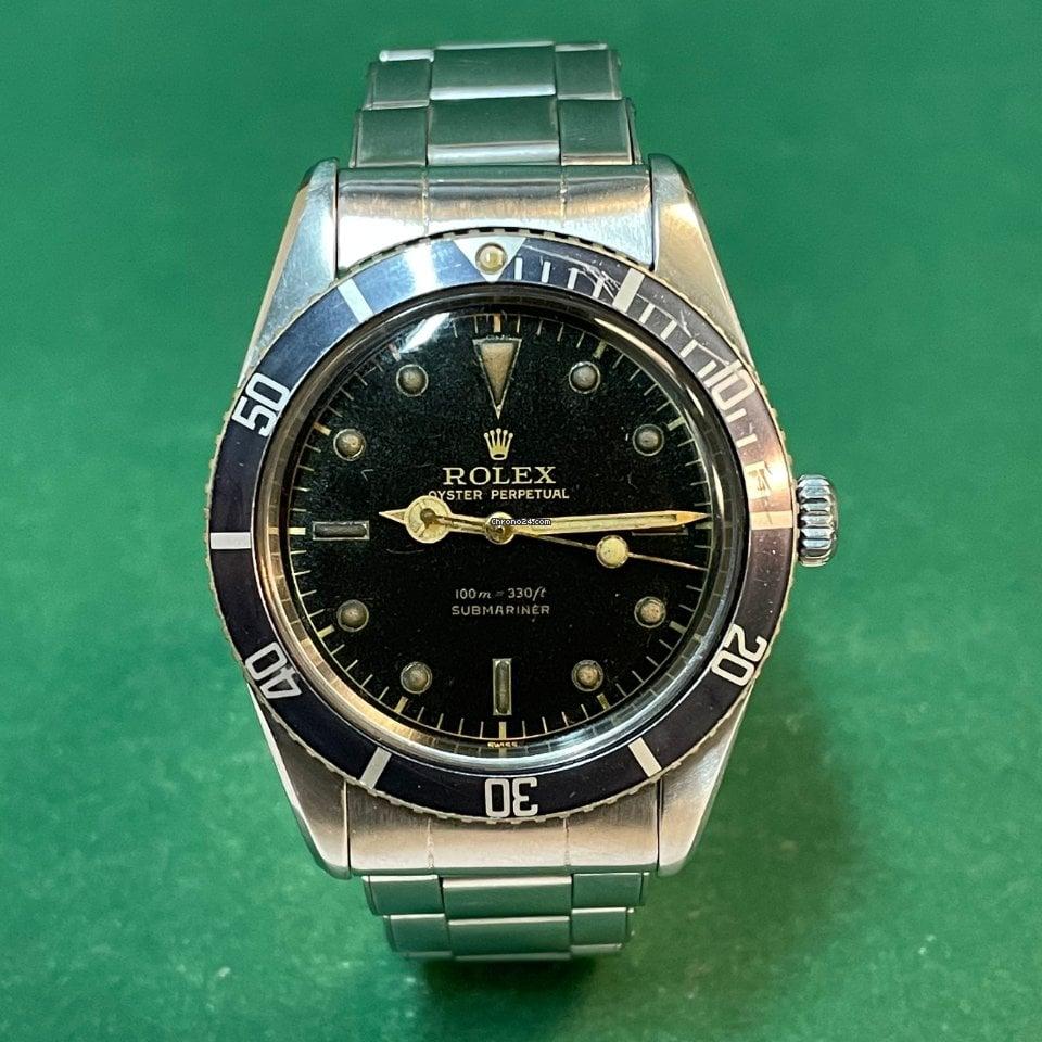 劳力士 Submariner (No Date) 6536/1 1956 二手