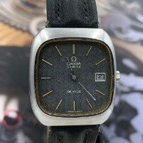 Omega De Ville pre-owned 36mm Grey Leather