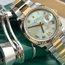 Rolex Datejust II Gold/Stahl 36mm Silber