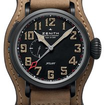 Zenith Pilot Type 20 GMT Titan 48mm Schwarz Arabisch