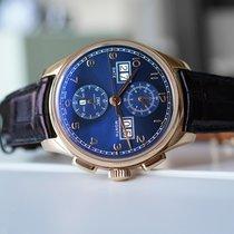 IWC Portuguese Perpetual Calendar Digital Date-Month Rose gold 45mm Blue Arabic numerals