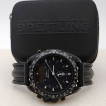 Breitling Pluton Steel 41mm Black No numerals