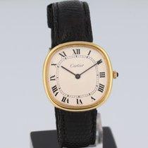 Cartier Zuto zlato 32.5mm Rucno navijanje Vintage rabljen