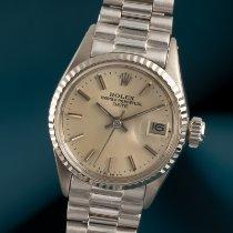 Rolex Oyster Perpetual Lady Date gebraucht 26mm Silber Datum Gelbgold