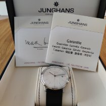 Junghans max bill Quartz pre-owned 38mm Silver Date Leather