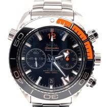 Omega Seamaster Planet Ocean Chronograph pre-owned 45.5mm Black Chronograph Date Steel
