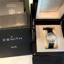 Zenith Captain Central Second Steel 40mm Brown No numerals