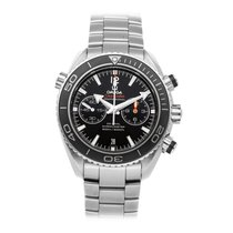 Omega Seamaster Planet Ocean Chronograph pre-owned 45.5mm Black Chronograph Date Fold clasp