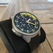 IWC Titanium Automatic Black pre-owned Aquatimer Chronograph